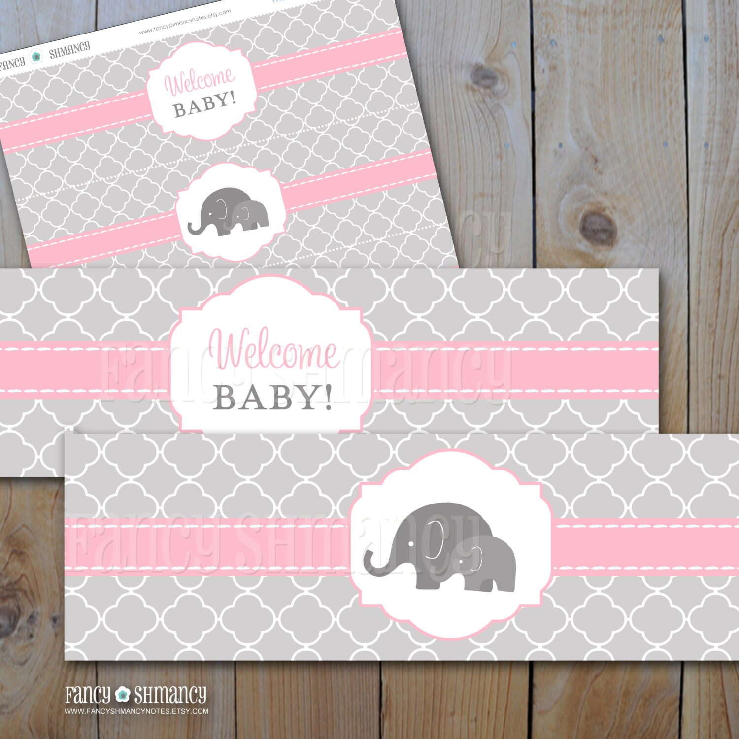 🔎zoom  Free Baby Shower Label Templates