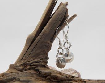 Handmade Sterling Silver Stamped Earrings