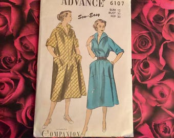 1950's Vintage Advance Sewing Pattern