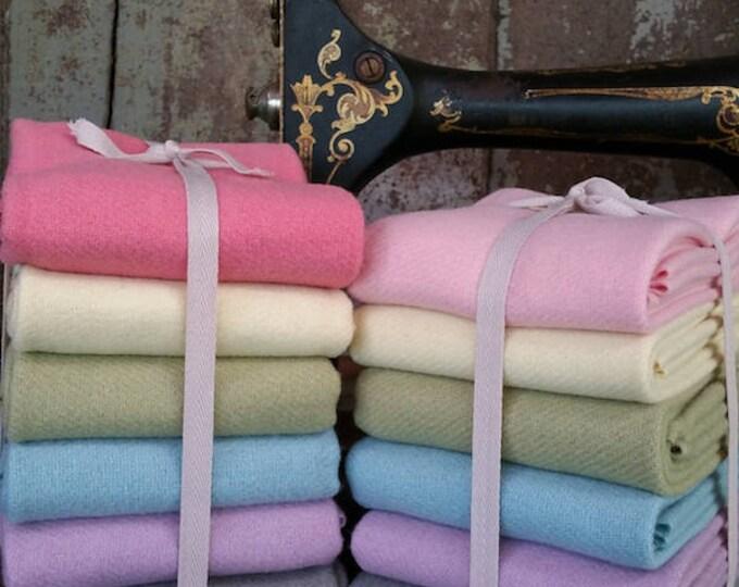 Wool: Bundle FQ Wool 6pc Pastels Sampler