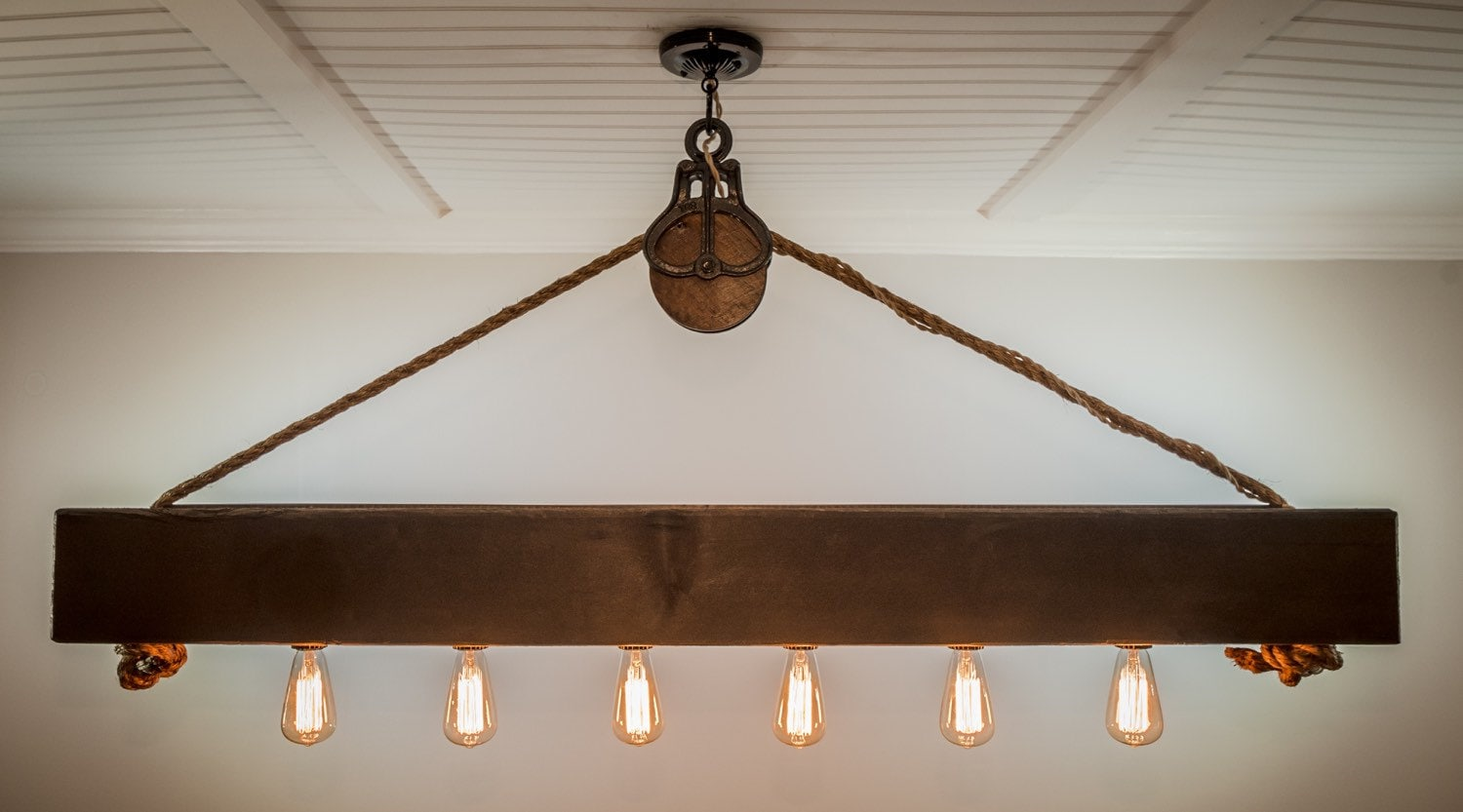 5 ft rustic beam edison bulb chandelier with vintage barn zoom arubaitofo Gallery