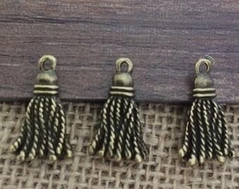 20pieces 6MMx20MM Tassel  charm- antique bronze  Charm Pendant