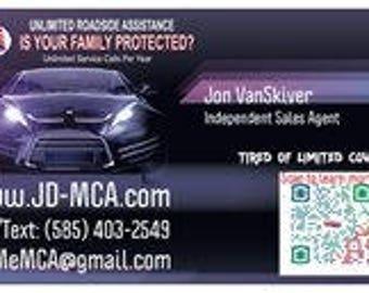 MCA Business Cards  New 2018 Design