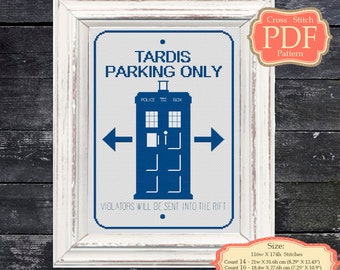 Tardis - Dr Whoo - Cross Stitch PDF Pattern - Wall decor - Nursery Art