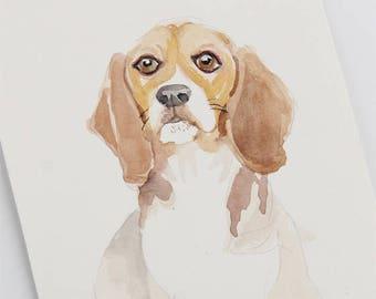 Custom portrait watercolor,  Watercolor custom portrait,  Custom portrait, custom dog portrait, Custom pet portrait,  Portrait painting