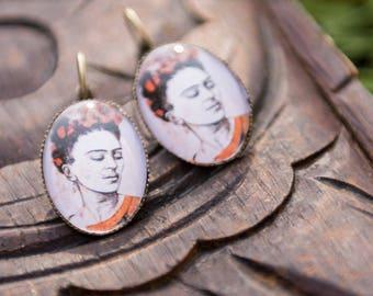 Frida Kahlo earrings - earrings Frida Kahlo stud earring - women gift