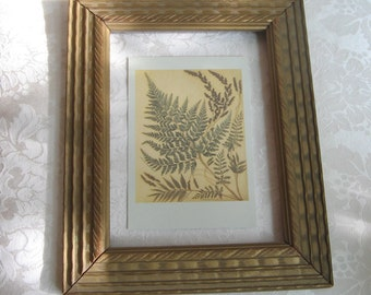Vintage Gold Picture Frame Carved Wood Embossed Beveled With Braided Design, 8 x 10 Rectangle Wall Decor