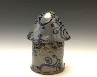 Whimsical Canister - Charming  Jar - Cookie Jar - Fairy House - Kitchen Storage - Handbuilt Jar - Handmade Pottery