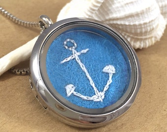 Anchor Necklace Silver, Anchor Jewelry, Beach Necklace, Beach Jewelry, Nautical Necklace, Nautical Jewelry, Anchor Gift, Boat Necklace