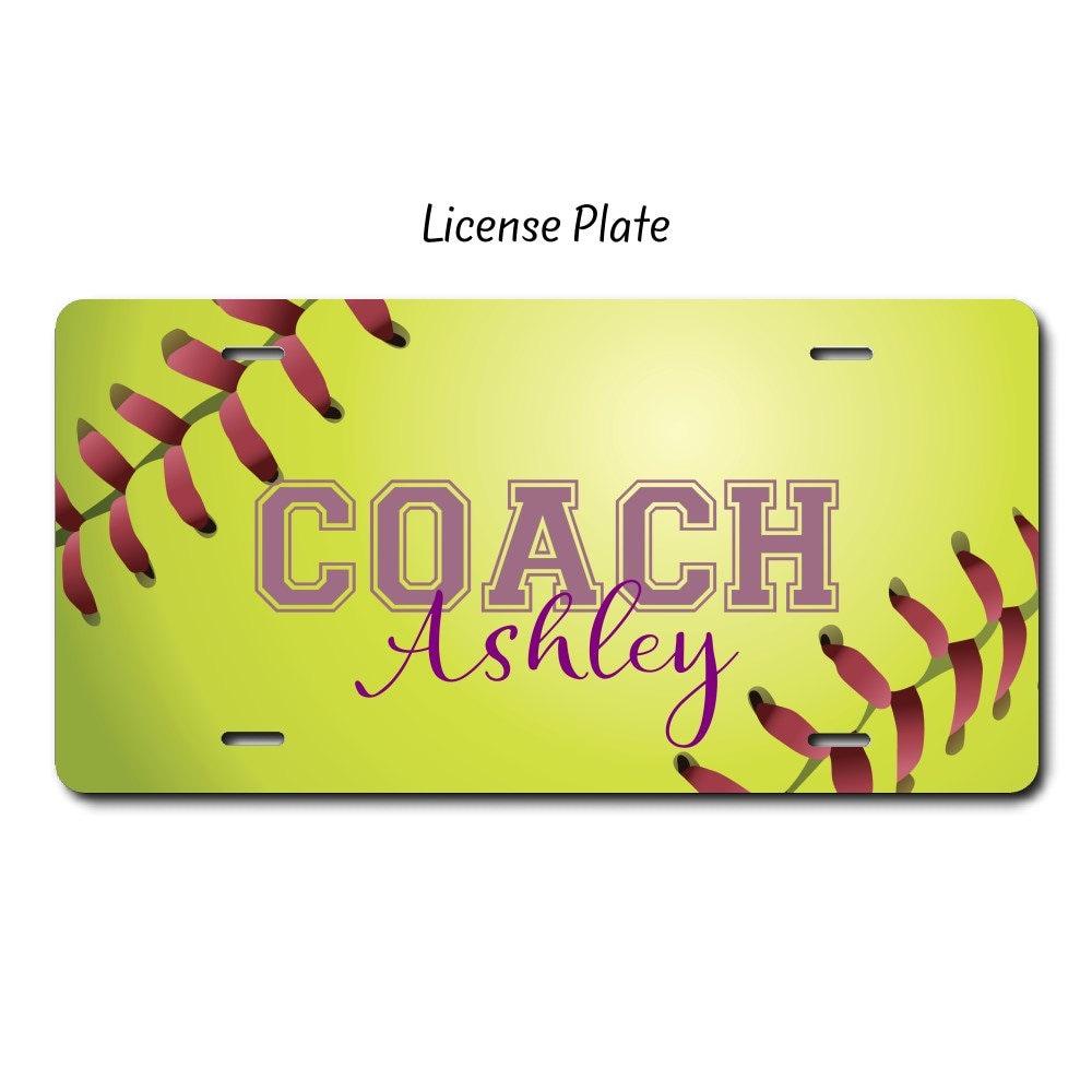 Softball Coach Softball-Geschenk Softball-Kfz-Kennzeichen