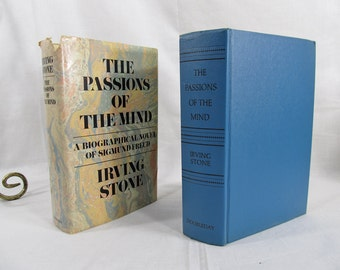 The Passions of the Mind - A Novel of Sigmund Freud,  Irving Stone Doubleday (1971) Hardcover First Biography Psychology BCE Book