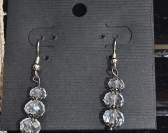 Handmade Crystal Dangle Earrings