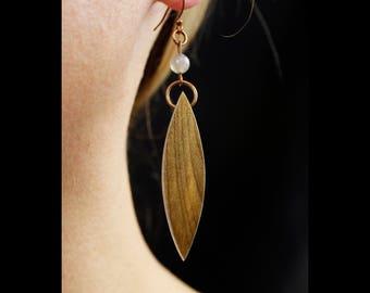 Boho Chic Drop Earrings, Unique Dangle Earrings, nature lover boho jewelry, wooden jewelry, wood earrings, dangle earrings, handmade