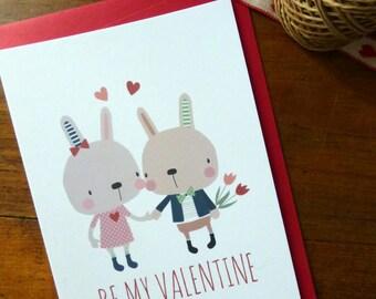 Be my Valentine . Valentine's Day postcard
