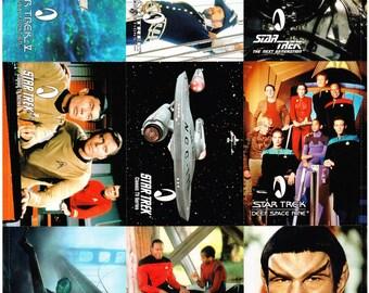 Vintage Uncut Skybox Star Trek Official Fan Club Promotional Sheet, Trading Cards, 1994, Original Series, Next Generation, Voyager