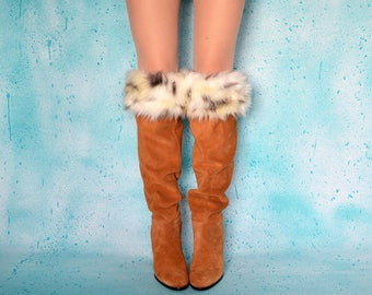 Faux Fur Boot Cuffs - Soft Fur Winter Boot Cuffs, Fluffy Boot Toppers, Furry Boot Toppers, Lynx Fur