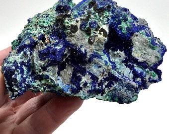 Azurite, Malachite, COLOR Explosion! China, Rocks and Minerals, 244g