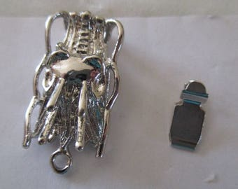 clasp silver insect charm