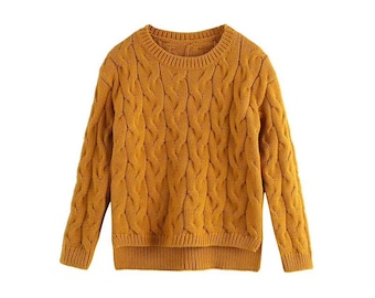 Cotton sweater for girls, 3-12 years,