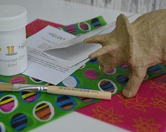 Decoupage Penguin Kit - lots of colours available