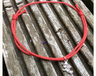 Red Cord Witch Charm Anklet
