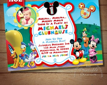 mickey mouse clubhouse invitation template free inspirational twin birthday
