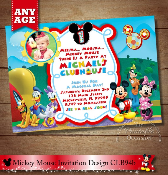 Mickey Mouse ClubHouse Invitation Mickey Invitation