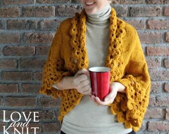 handmade cardigan hand knit crochet cardigan blanket cardigan oversized plus size cardigan boho slouchy cardigan custom made sweater shrug