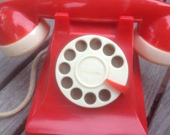 Amerline Telephone Bank with Rotary Dial 1945