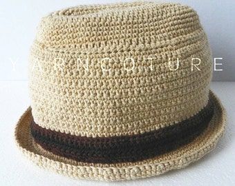 YARNDORA - The Fedora Hat For Men - Made To Order / You Choose The Color