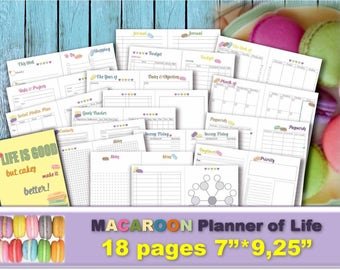 Happy planner printable pages inserts Project life organizer management planning setting goal 2018 UNDATED goal worksheet _ Re-Size is FREE