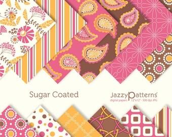 Sugar Coated digital papers for scrapbooking DP064 instant download