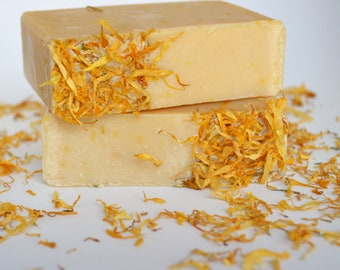 Handmade Calendula Cold Process soap, goat's milk soap, all natural soap, handcrafted soap, handmade soap