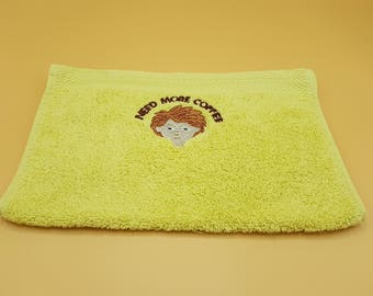 Embroidered guest towel