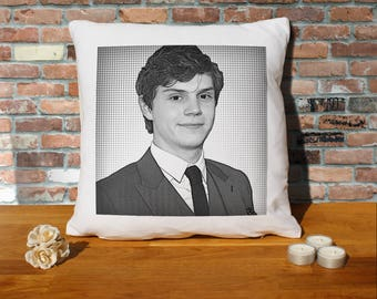 Evan Peters Pillow Cushion - 16x16in - White
