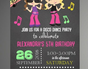 EDITABLE TEXT Girl Dance Party Invitations   Girl Dance Birthday Invitation   Girl Dance Invitation   Dance Invite    Instant Download