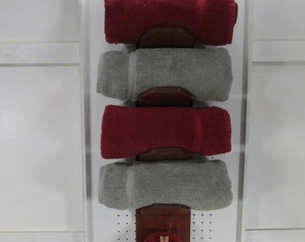 rustic towel rack bath towel hand towel rack rustic rustic bathroom towel storage wall shelf reclaimed - Towel Storage