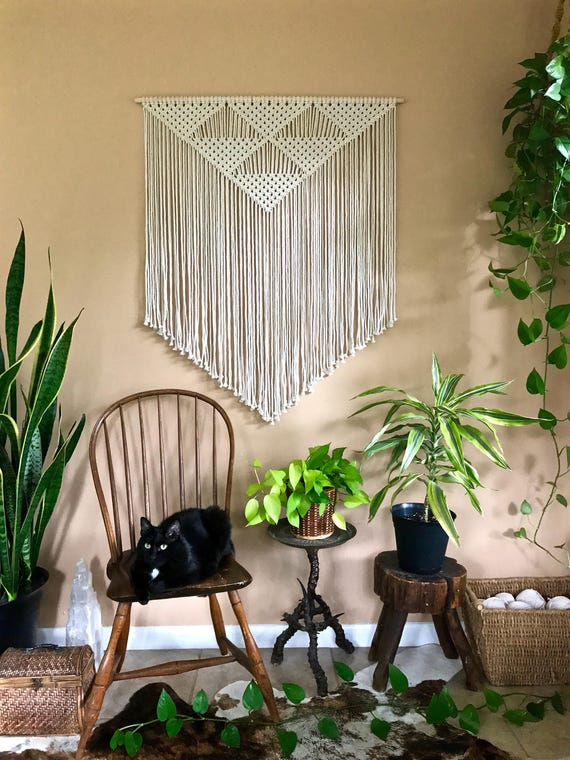 Triangles Macrame Wall Hanging