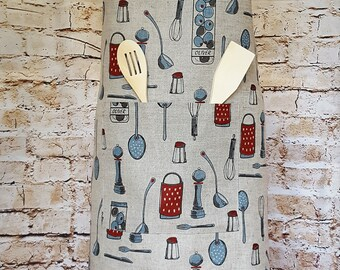 Handmade Big Chef's / Baker's Kitchen Utensils Aprons. Cooking Baking BBQ Barbecue Apron. Size S to XXL.