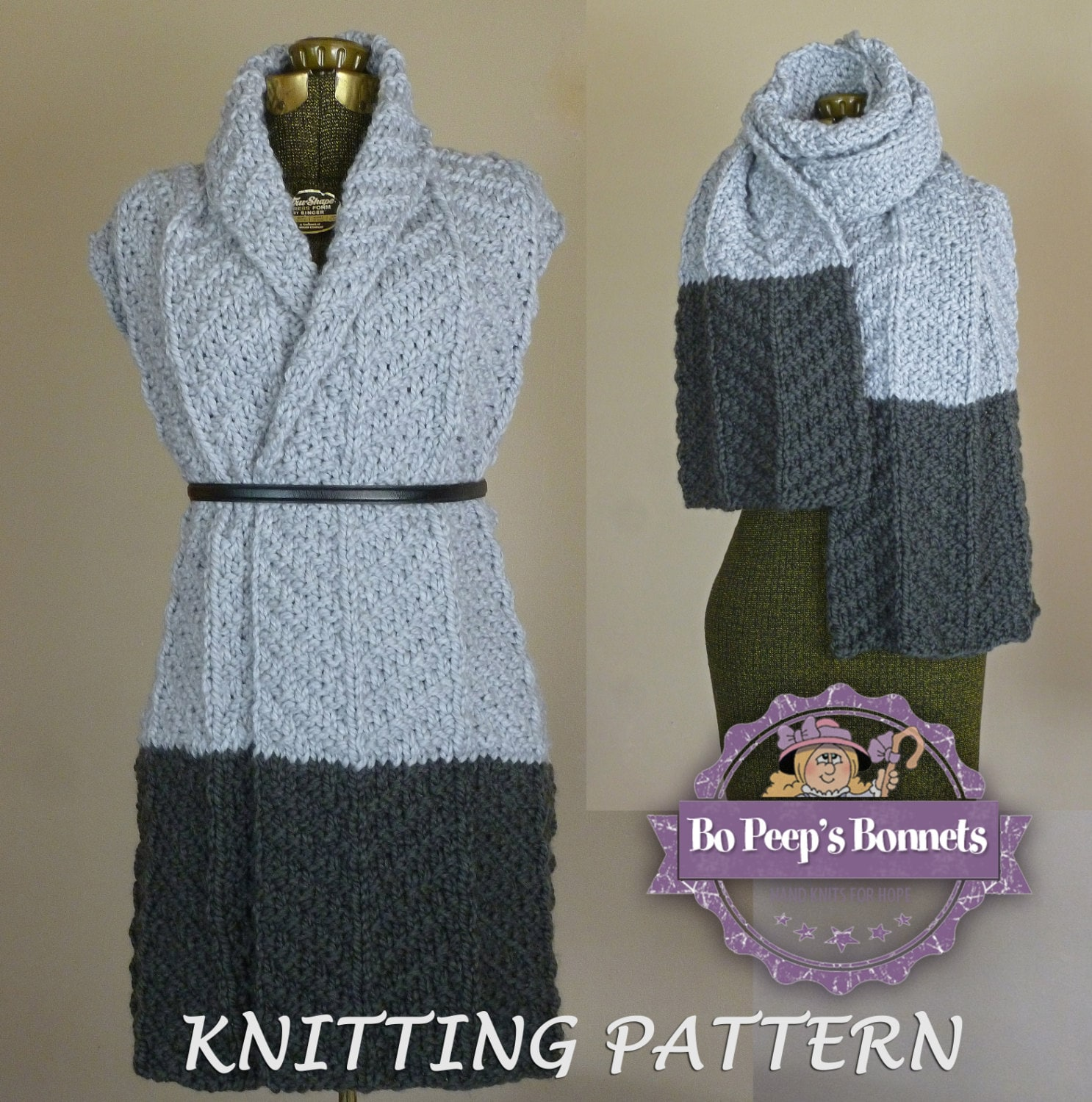 Knit scarf pattern color block scarf knitting pattern zoom bankloansurffo Image collections