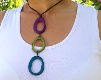 tagua necklace, tagua nut necklace handmade, Eco Friendly, Empowering women, tagua jewelry, leather necklace, necklace, jewelry, organic
