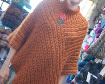 OOAK Origional  Poncho Origional Made by Roisin Sheehy-Culhane, one size fits all,