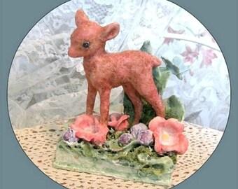 Deer Sculpture Deer Figurine Baby Nursery Deer Decor Baby Deer Decoration Baby Fawn Decor Doe Decor Deer Figure Fawn Figurine Deer Statue
