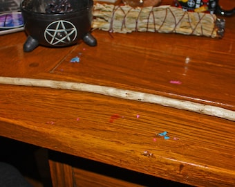 Hand Carved Pagan Witch Wand