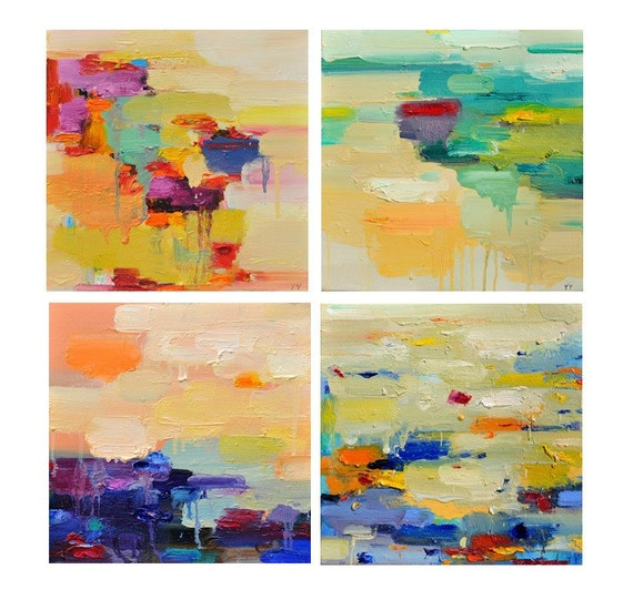 Abstract art Print Abstract painting oil painting set