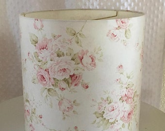 Nice Shabby Cottage Chic Floral Drum Lampshade Pink Floral Lamp Shade Kids  Room Nursery