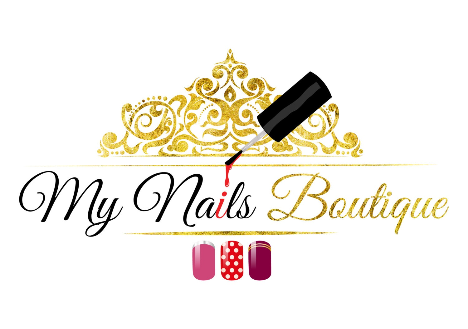 Premade Beauty Nails Logo Custom Design