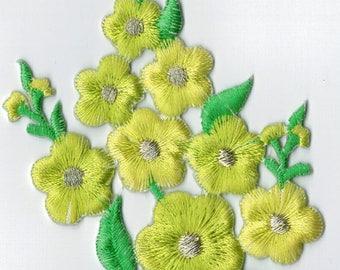 Coat large flower iron or sew Applique Patch 7 x 12.5 cm