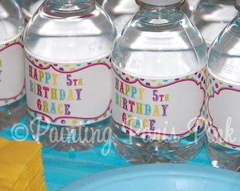 Printable Water Bottle Labels - Carnival Ride Party Collection