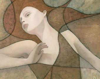 Elysium (detail), Art Nouveau Painting, Signed Giclee Print